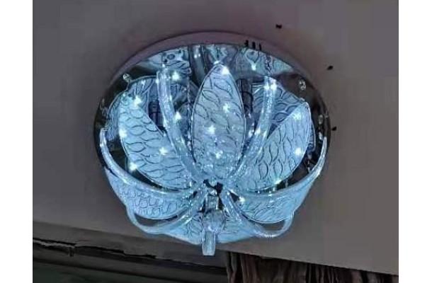 Люстра потолочная круг 9085/4 Ø400 E27+LED+ПДУ (1) (1)
