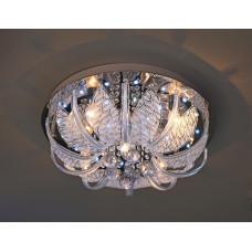 Люстра потолочная круг 9085/5 Ø500 E27+LED+ПДУ (1) (1)