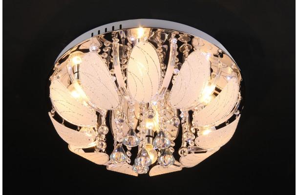 9037/6 Ø500 E27+LED+ПДУ люстра потолочная круг