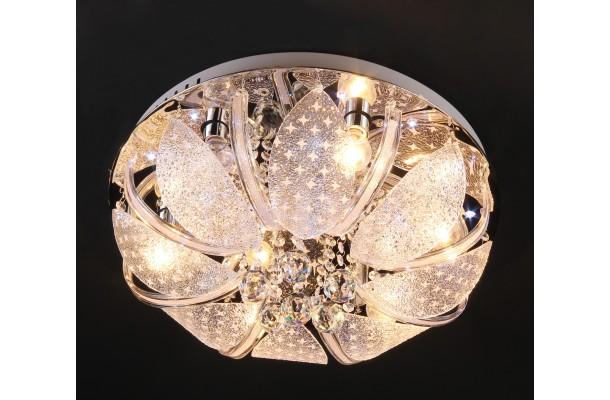 Люстра потолочная круг 9045/8 Ø600 E27+LED+ПДУ