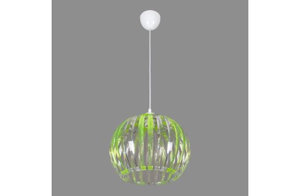 Светильник подвесной 0337/1 зеленый+прозрачный (5) (1)