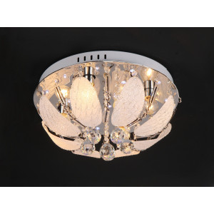 9049/4 Ø400 E14+LED+ПДУ люстра потолочная круг