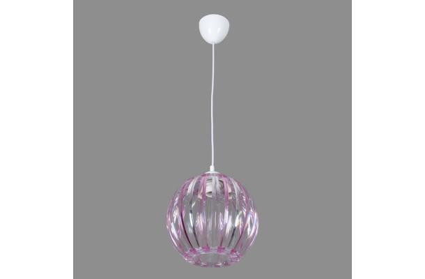 Светильник подвесной 0334/1 розовый+прозрачный (5) (1)