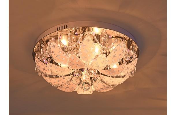 Люстра потолочная круг 9081/5 Ø500 E27+LED+ПДУ (1) (1)
